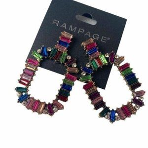 Rampage colorful earrings